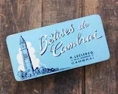 1950s Vintage French Candy Tin - Betises de Cambrai