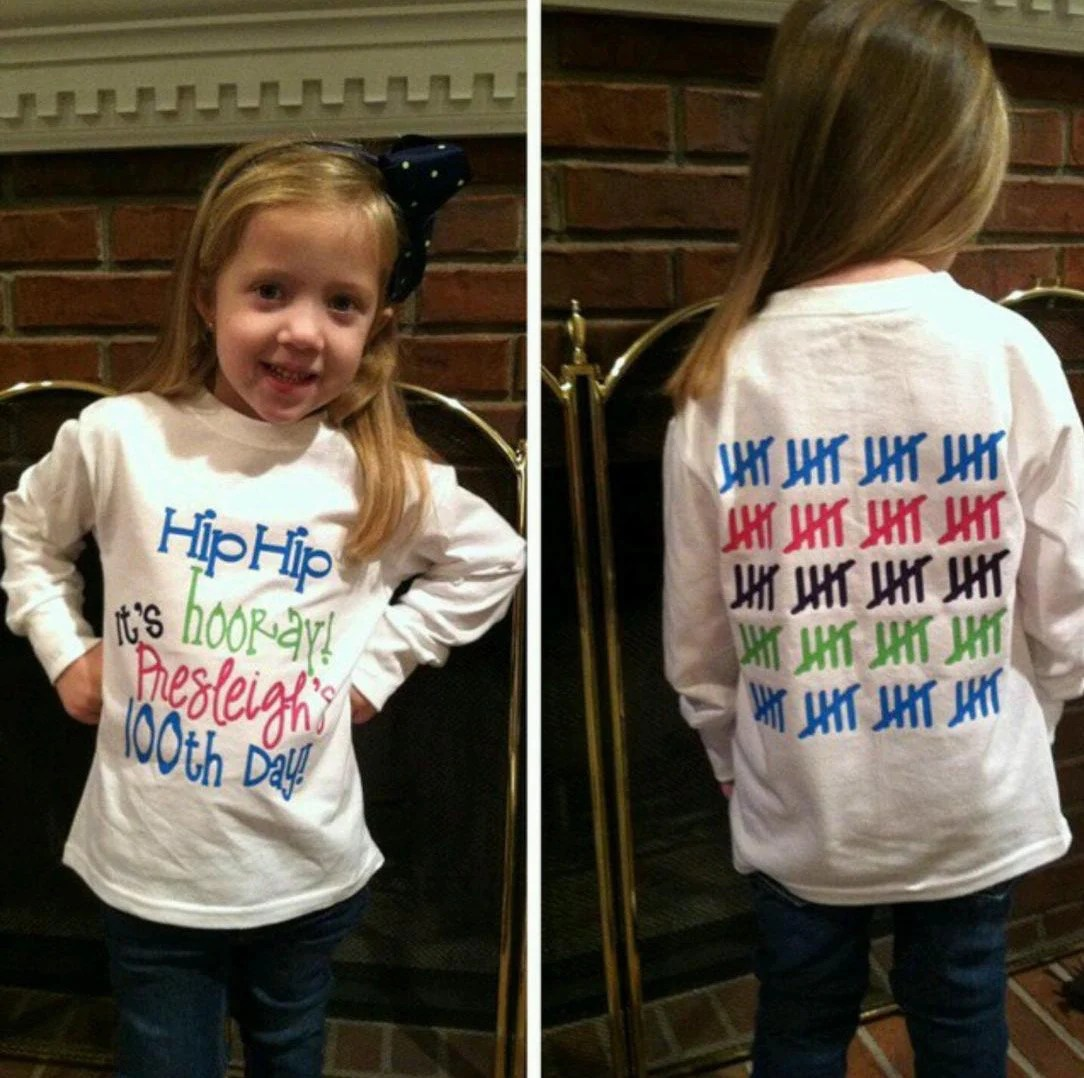 100th Day Of School Shirt Longsleeve