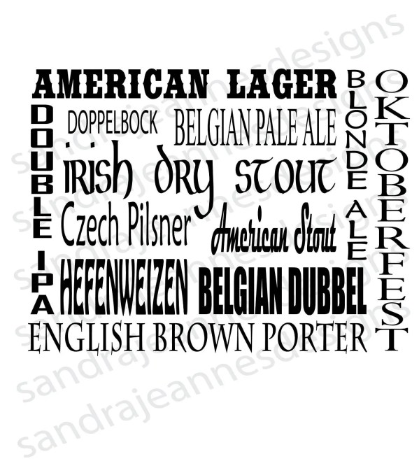 beer word art svg cricut silhouette