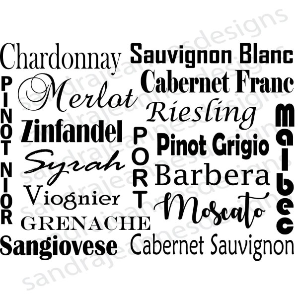 wine word art svg cricut silhouette