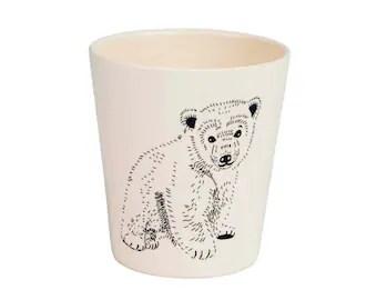 tasse en bambou ours