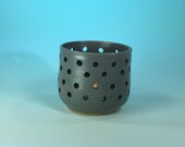 Handmade Ceramic Candle Holder in Matte Gray // Gifts for Her, Housewarming, Valentines Day, Birthdays or Weddings - READY TO SHIP
