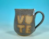 Vote Ohio Mug in Gray // Handmade Ceramic Mug // Gifts  for Ohioans, Travelers or College Students - READY TO SHIP
