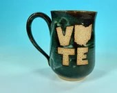 Vote Ohio Mug in Blue // Handmade Ceramic Mug // Gifts  for Ohioans, Travelers or College Students - READY TO SHIP