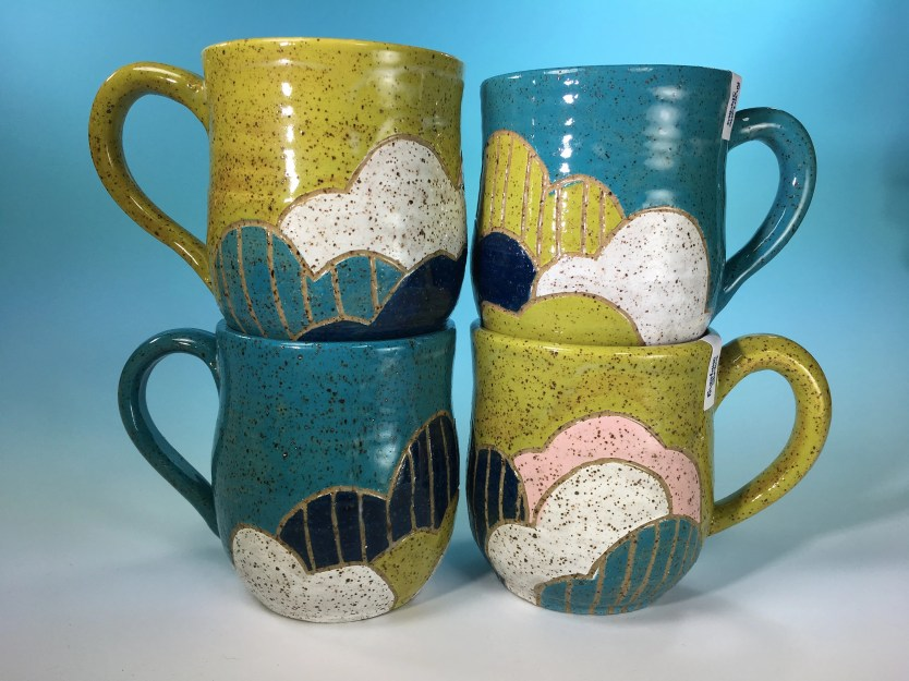 Mug - Clouds Carved Mug /...