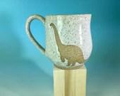 White Dinosaur Mug / 12 o...
