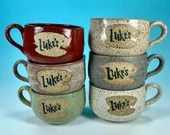 Luke' Diner Latte Mug // Inspired by the Gilmore Girls // Handmade in Various Colors // Gifts for Her - READY TO SHIP