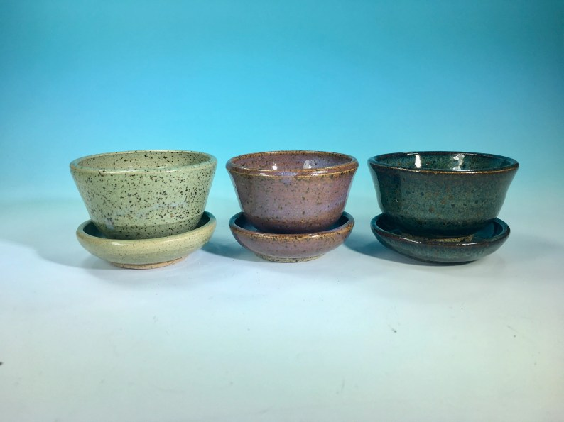 Miniature Planter with Saucer // March Miniature Pottery of the Month // Tiny Pots, Planters, Bowls, Cups and More  - READY TO SHIP