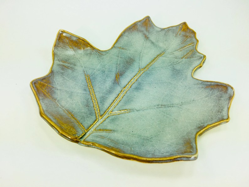Jumbo Leaf Plate // For Food Service, Spoon Rest, Candle Holder, Soap Dish or Jewelry Catchall // Gifts for Her - READY TO SHIP