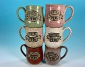Central Perk Mug // Inspired by Friends // Handmade in Various Colors, Speckled Brown Clay // Gifts for Her - READY TO SHIP