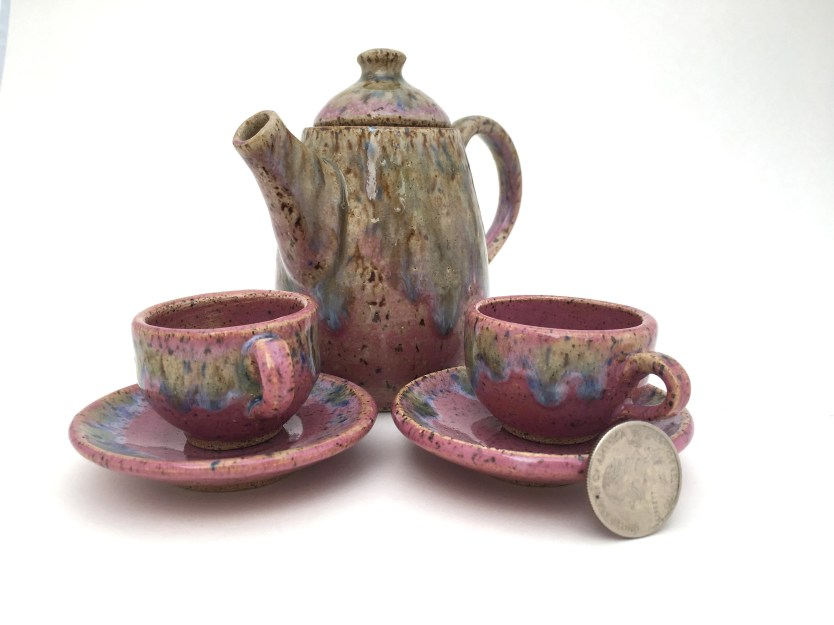 Tea Set - Miniature Pink ...