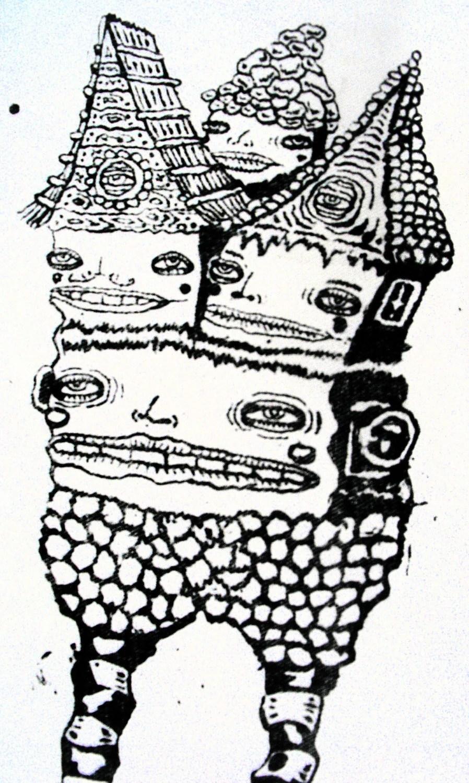 Baba Yaga Back Patch Silkscreen Dark Fairytale Witch Print
