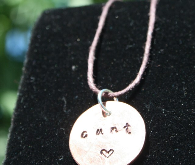 Cunt Hammered Penny Charm Necklace Copper Jewelry New Orleans Nola Art Gift Vagina Feminism Lesbian