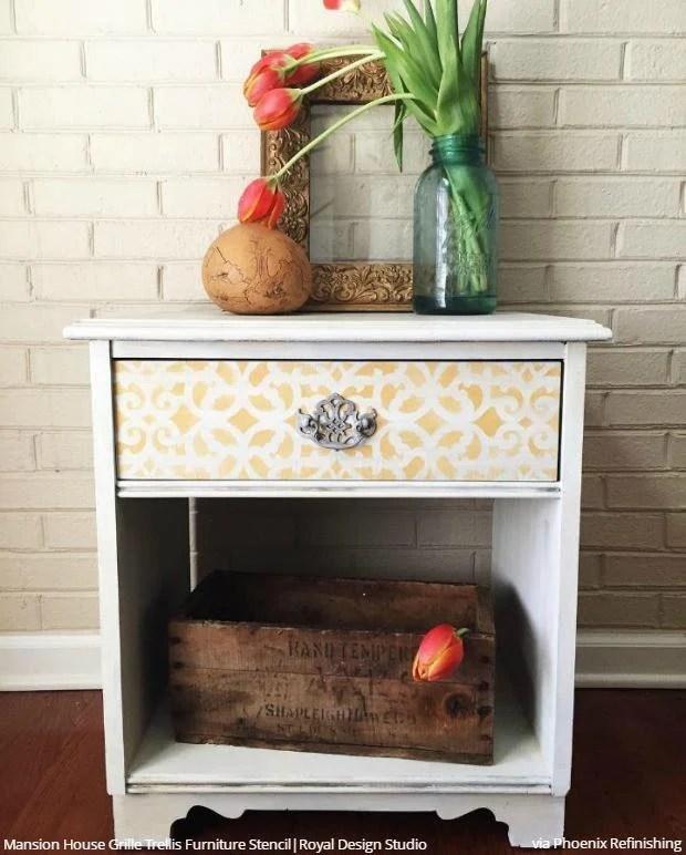 treillis bricolage mini pochoir pour la decoration et de peinture art petits projets meubles ou dosseret
