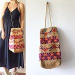 Reserved For Kim Vintage Embroidered Bag Boho Bucket Bag