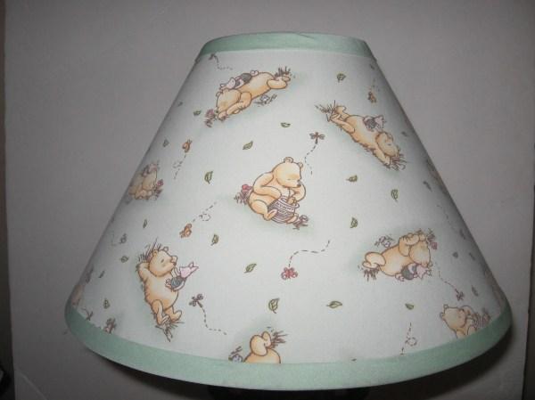 Classic Winnie Pooh Fabric Nursery Lamp Shade Light