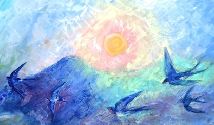 Image result for return of the swallows painting
