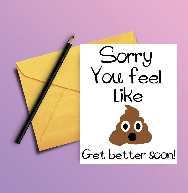 Get Well Card Funny Get Well Soon Card PRINTABLE CARD Etsy