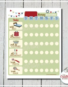 Image also morning routine chart daily editable name printable etsy rh