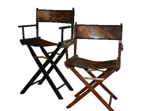 customized directors chair sprout high 18 inch custom cowhide chairs etsy image 0