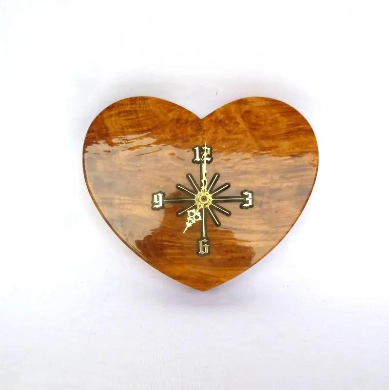 vintage burl heart shaped