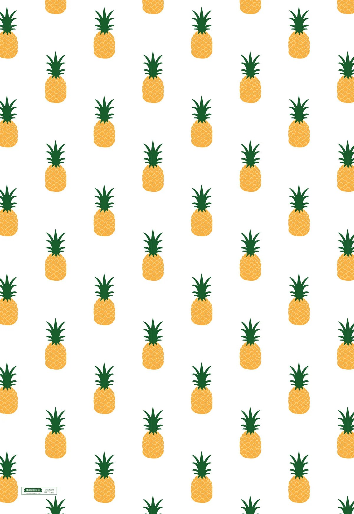 Cute Love Wallpaper For Whatsapp Pineapple Wrapping Paper Pineapple Gift Wrap Etsy