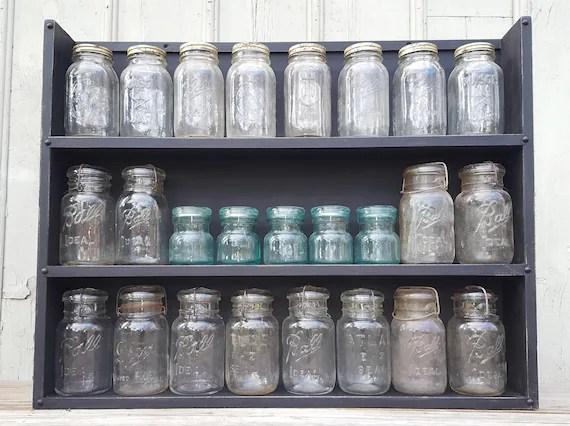 mason jar storage display rack etsy