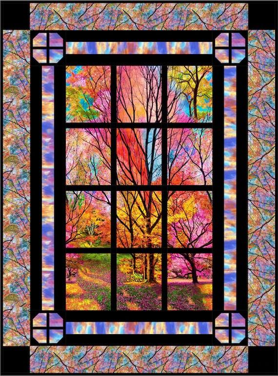 Window Quilt Pattern : window, quilt, pattern, Window, Quilt, Pattern, Horizon, INSTANT, DOWNLOAD