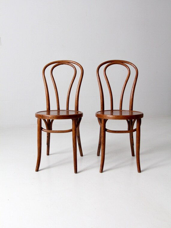 vintage bentwood chairs nautical bedroom chair thonet style cafe set 2 etsy image 0