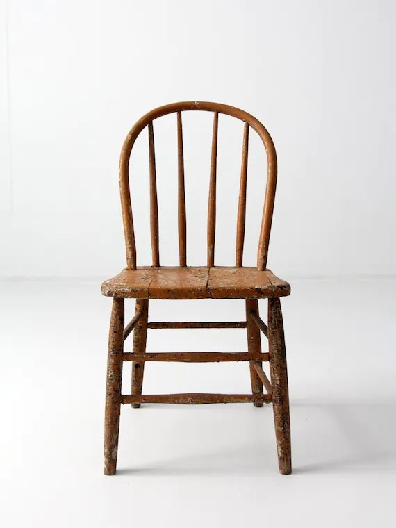 antique windsor chairs chair rental columbus ohio primitive farmhouse spindle back etsy image 0