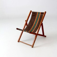 Wooden Frame Beach Chairs Tantra Chair Positions Vintage Children S Deck Folding Kids Etsy Image 0