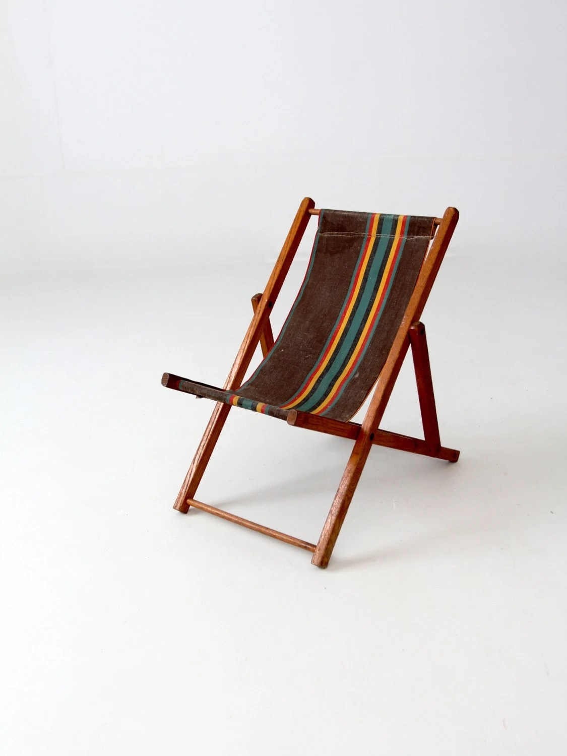Folding Wood Beach Chair Vintage Children S Deck Chair Folding Beach Chair Kids Patio Chair