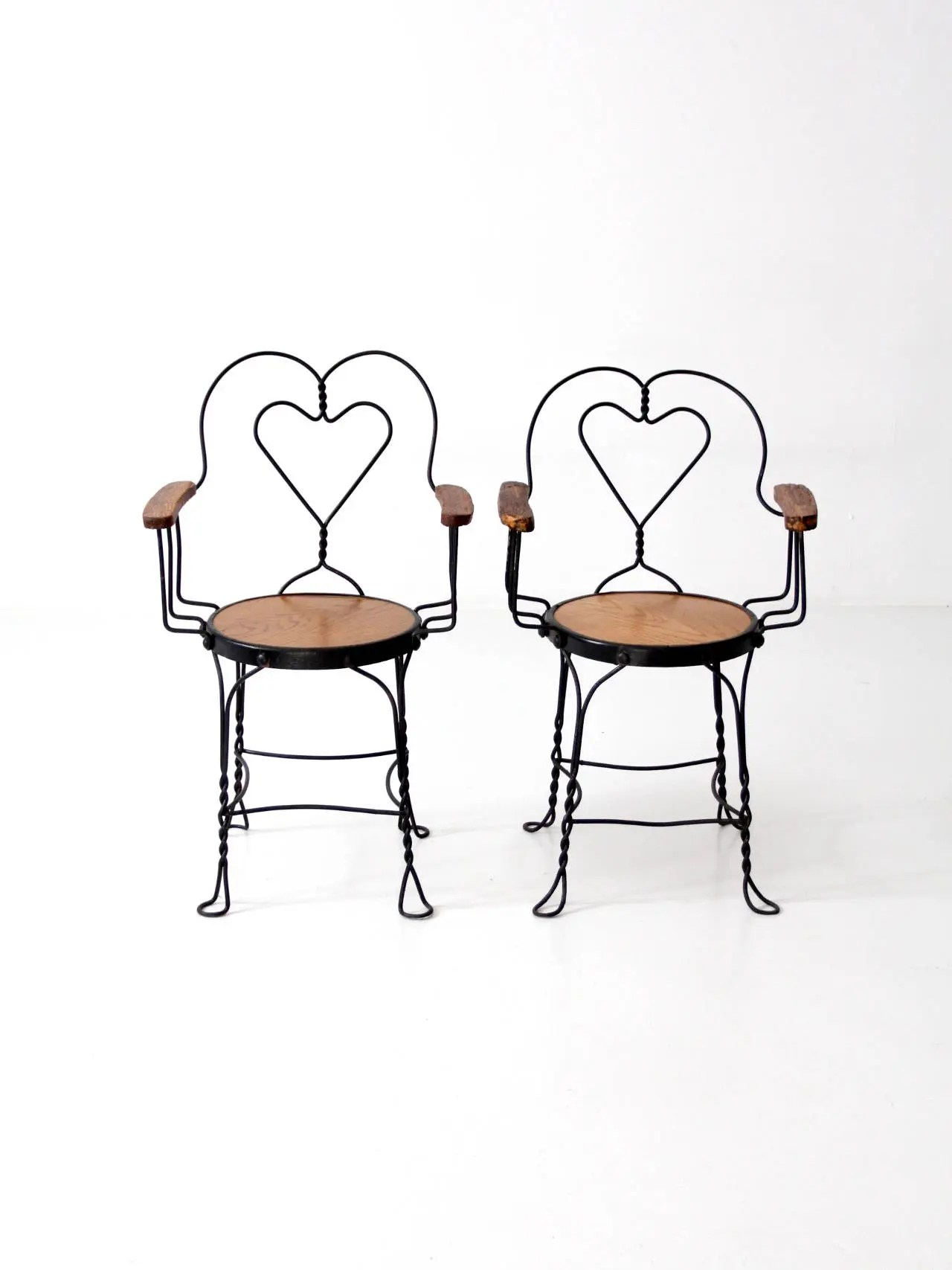 Antique Parlor Chairs Antique Ice Cream Parlor Chairs Heart Back Cafe Arm Chairs