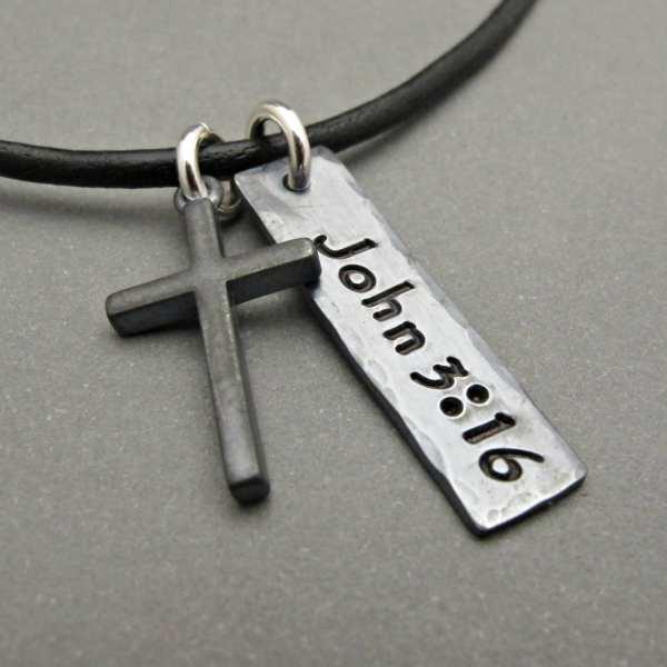 Mens Cross Necklace Jewelry Pendant Boy