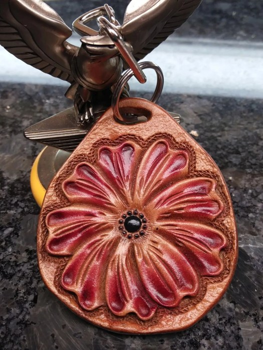 Floral zipper pull, custo...