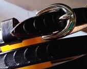 Black leather belt, Women...