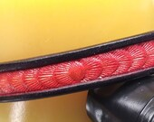 Red leather dog collar, r...