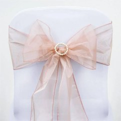 Blush Chair Sashes Uk American Office Etsy Organza 240 8 X 108 Wedding Birthdays Corporate Events Pew Bows Ships Flat