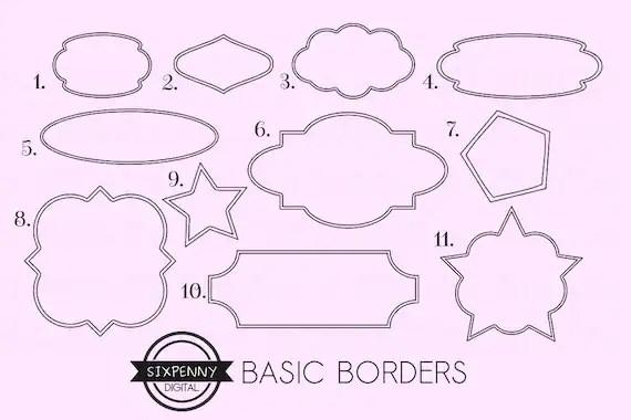 border clipart printable label
