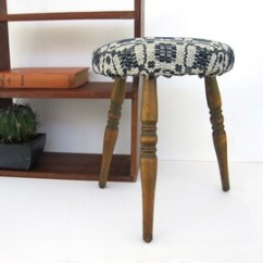3 Legged Chair Ebay High Stool Etsy Antique Three Leg Small Wood Primitive Upholstered Blue Coverlet Farmhouse Tripod