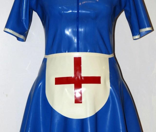 Latex Nurse Dress With Apron Latex Nurse Dress Short Sleeve Nurse Costume