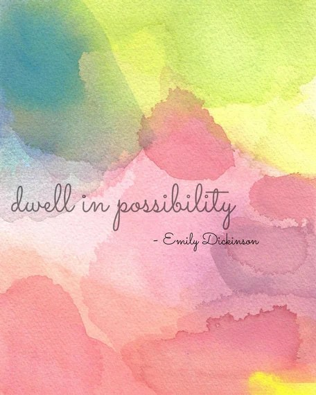 Emily Dickinson I Dwell In Possibility : emily, dickinson, dwell, possibility, Inspirational, Quote, Print, Emily, Dickinson, Dwell