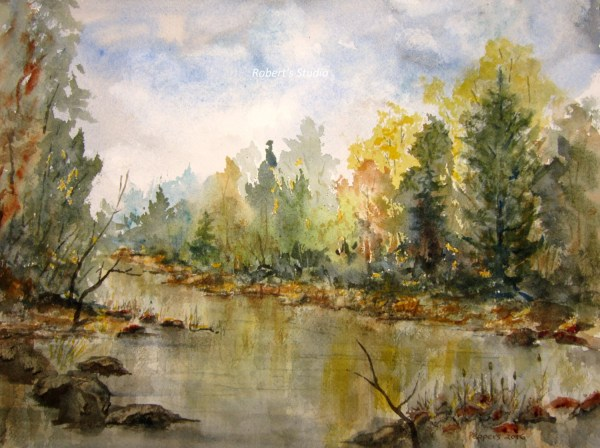 Watercolor Autumn Painting Print Archival