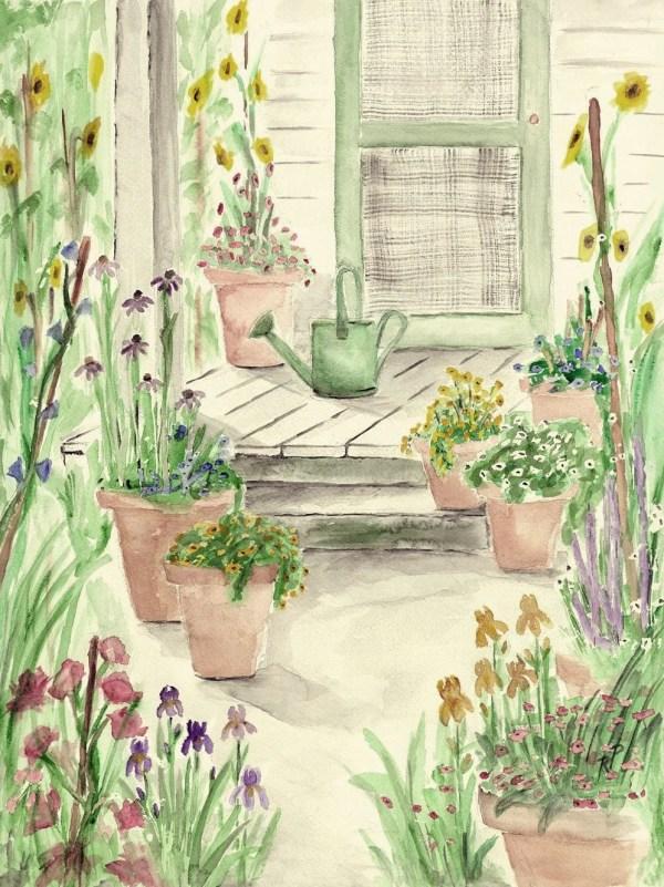 print of original watercolor painting