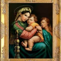 Madonna Of The Chair Target Papasan Gorgeous Raphael Art Print Framed In Etsy Image 0