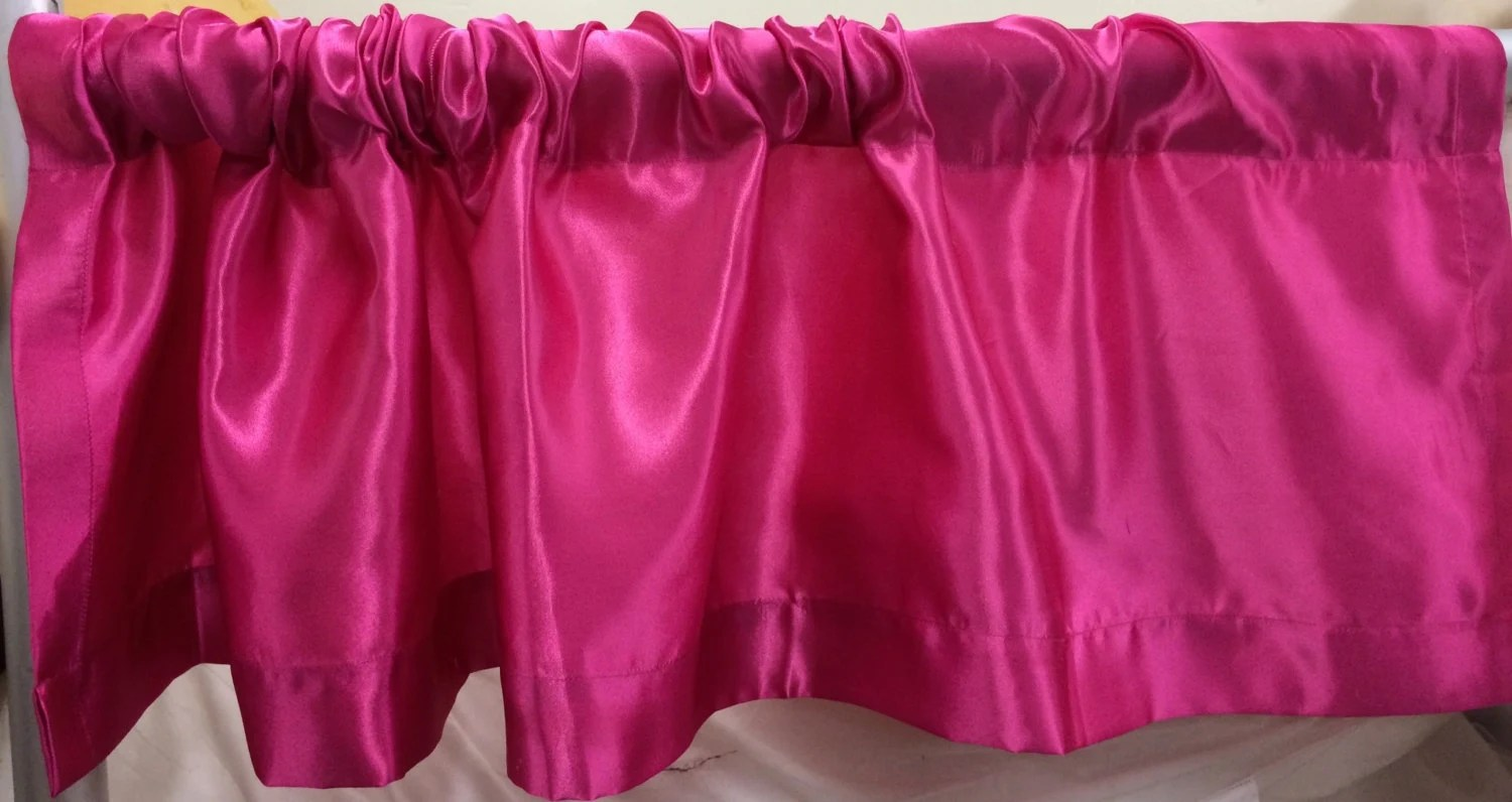Hot Pink Satin Valance 52 Inches Wide