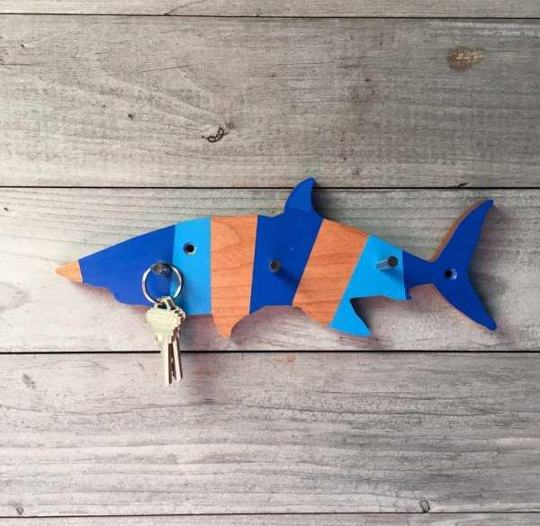 Shark Hook Coat Fish Kids Room Decor