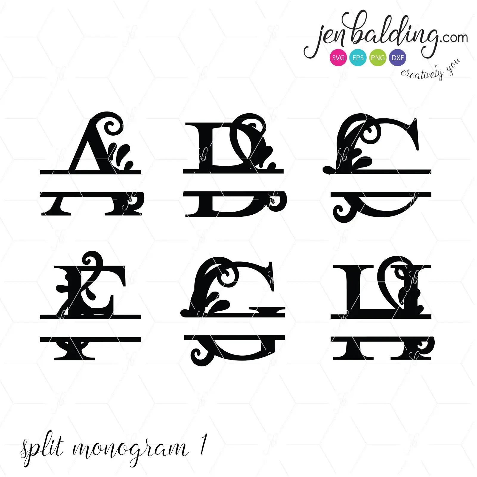 Split Letter Svg Split Letter Dxf Split Letter