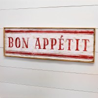 Bon Appetit Sign French Country Decor Kitchen Wall Decor ...