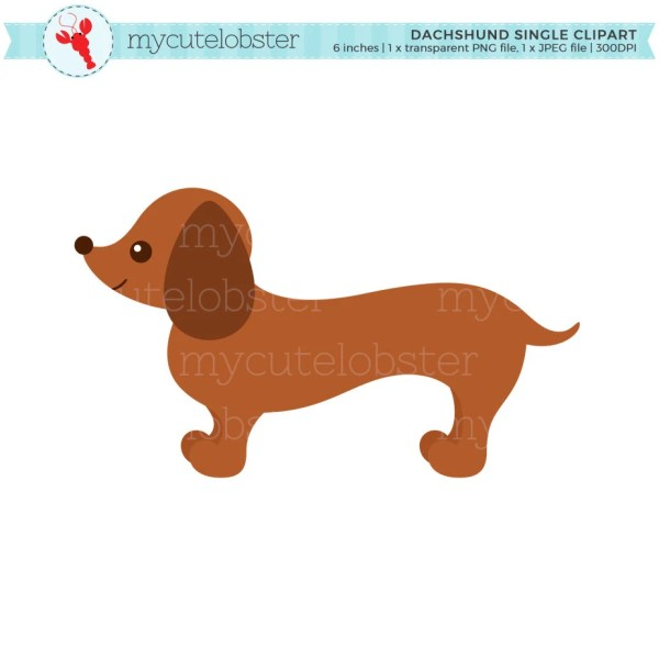 dachshund single clipart sausage